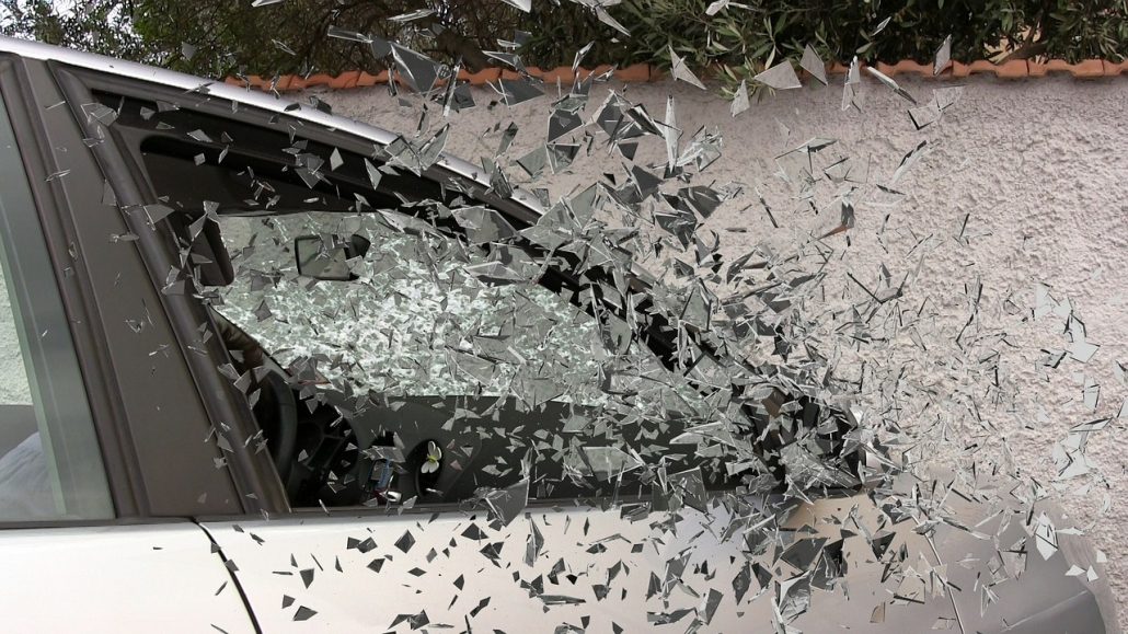 Window damage that's covered by collision damage insurance in Tampa